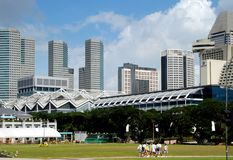 Singapore: Modern Skyline Royalty Free Stock Images