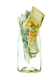 Singapore money in a jar Stock Image