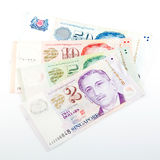 Singapore money on the white Royalty Free Stock Photos