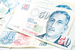 Singapore money Royalty Free Stock Photo