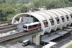 Singapore MRT Train Stock Photo
