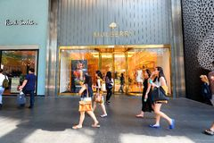 Singapore: Mulberry Retail Store Royalty Free Stock Photos