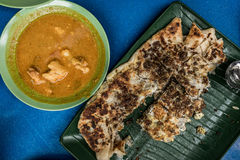 Singapore Murtabak. A top view shot of the famous Singapore Murtabak taken at Arab Street, Singapore Royalty Free Stock Images