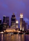 Singapore na noite Foto de Stock Royalty Free