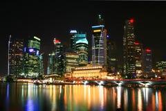 Singapore na noite Fotografia de Stock Royalty Free
