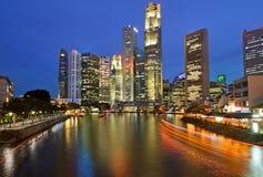 Singapore na noite Imagem de Stock