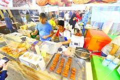 Singapore: Nachtmarkt Pasar Malam Royalty-vrije Stock Foto's