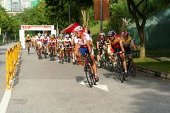 Singapore National Cycling Championship 2009 Royalty Free Stock Photography