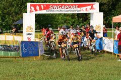 Singapore National Cycling Championship 2009. Singapore National Mountain biking Championship 2009 Royalty Free Stock Image