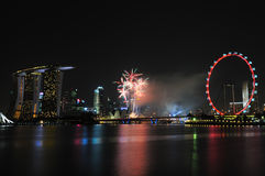 Singapore National Day 2012 Fireworks Royalty Free Stock Photos