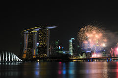 Singapore National Day 2012 Fireworks Stock Photography