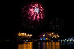 2016-07-02 Singapore national day fireworks display rehearsal Royalty Free Stock Images