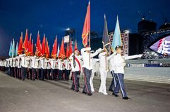 Singapore National Day Parade Rehearsal Stock Photo