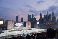Singapore National Day Parade reheasal Royalty Free Stock Photo