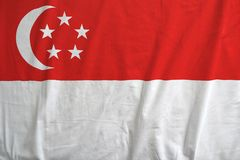 Singapore national flag background texture. royalty free stock image
