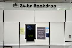 Singapore National Library Board automated book drop return Stock Photography