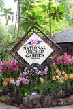 Singapore national orchid garden sign Stock Images