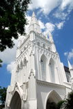 Singapore: Neo-gothic St. Andrew's Cathedral Stock Image
