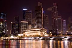 Singapore at Night. A Night Scene in Singapore Stock Images