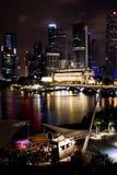 Singapore at Night. A Night Scene of Singapore Stock Photos