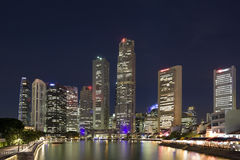Singapore by night. Central Business District in Singapore by night Royalty Free Stock Image
