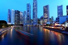 Singapore Night Stock Image