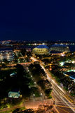 Singapore by night. View of the Singapore skyline at dusk Stock Photo