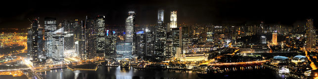 Singapore at Night. Singapore Skyline at Night from Marina Bay Sands resort Royalty Free Stock Images
