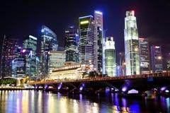 Singapore at night Stock Image