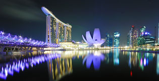 Singapore at Night Royalty Free Stock Image
