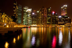 Singapore in the night Royalty Free Stock Images