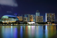 Singapore at night. Cityscape of Singapore at night Stock Images