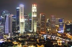 Singapore at night Royalty Free Stock Image