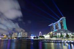 Singapore at night. Singapore modern city at night Royalty Free Stock Image