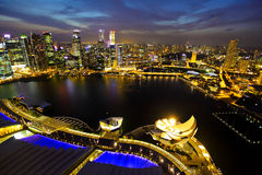 Singapore at night. Singapore cityscape with modern buildings at night Stock Photos