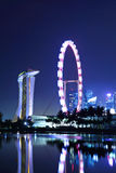 Singapore at night Stock Photo