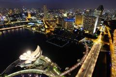 Singapore at night. Singapore city skyline at night Royalty Free Stock Image