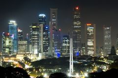 Singapore at night Stock Images