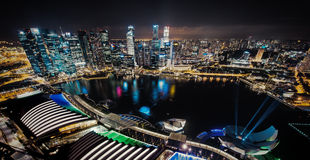 Singapore by night Stock Photo