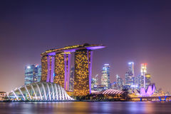 Singapore Night City Royalty Free Stock Photo