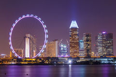Singapore Night City Royalty Free Stock Images