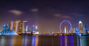 Singapore Night City Royalty Free Stock Photos