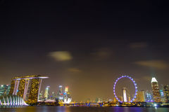 Singapore Night City Royalty Free Stock Photography