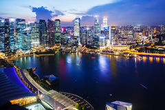 Singapore night Stock Image
