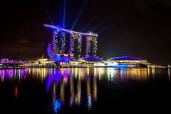 Singapore at night Royalty Free Stock Photography