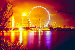 Singapore at night. Singapore city skyline at night Royalty Free Stock Photography