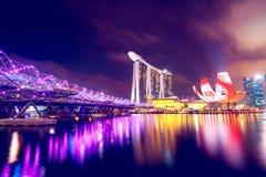 Singapore at night. Singapore city skyline at night Stock Photography