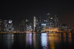 Singapore at night Royalty Free Stock Images