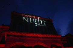 Singapore Night Festival 2014 at National Museum Royalty Free Stock Images