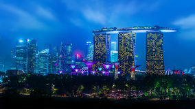 Singapore night landscape Stock Photo